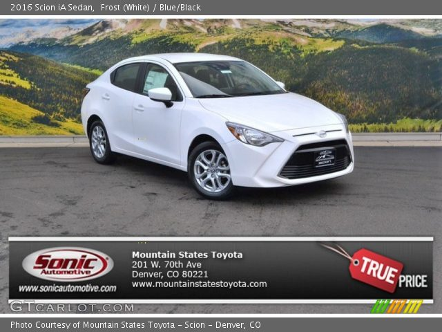 2016 Scion iA Sedan in Frost (White)