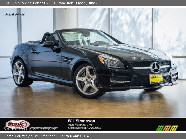 2016 Mercedes-Benz SLK 350 Roadster in Black