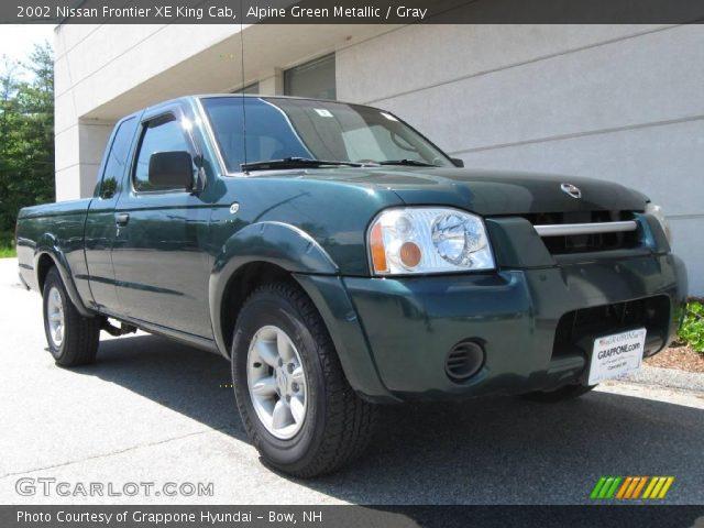 Alpine Green Metallic 2002 Nissan Frontier Xe King Cab Gray Interior