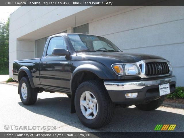 black sand pearl 2002 toyota tacoma regular cab 4x4 gray interior vehicle. Black Bedroom Furniture Sets. Home Design Ideas