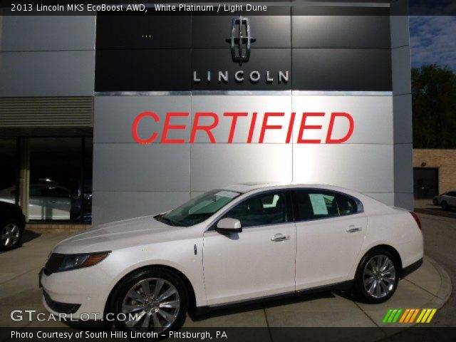 2013 Lincoln MKS EcoBoost AWD in White Platinum