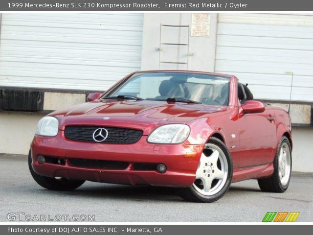 1999 Mercedes-Benz SLK 230 Kompressor Roadster in Firemist Red Metallic