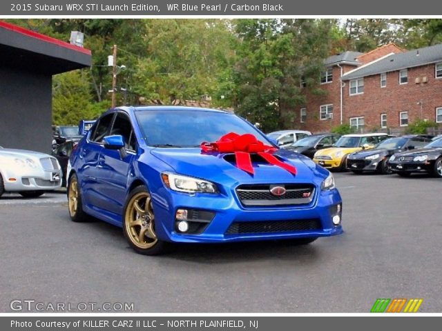 wr blue pearl 2015 subaru wrx sti launch edition carbon black interior. Black Bedroom Furniture Sets. Home Design Ideas