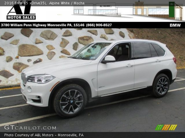 alpine white 2016 bmw x5 xdrive35i mocha interior vehicle archive 107603450. Black Bedroom Furniture Sets. Home Design Ideas