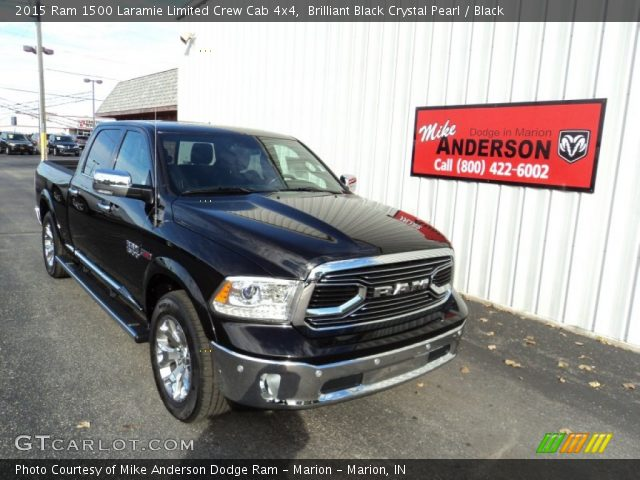 2015 Ram 1500 Laramie Limited Crew Cab 4x4 in Brilliant Black Crystal Pearl