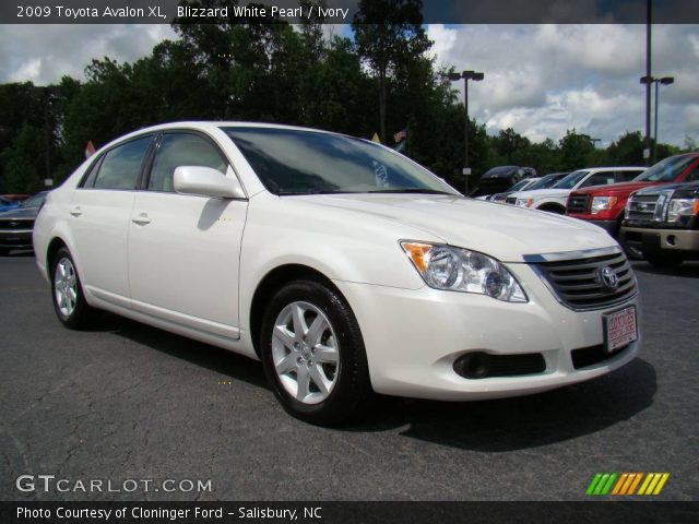 blizzard white pearl 2009 toyota avalon xl ivory interior vehicle archive. Black Bedroom Furniture Sets. Home Design Ideas
