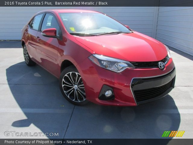 barcelona red metallic 2016 toyota corolla s plus. Black Bedroom Furniture Sets. Home Design Ideas