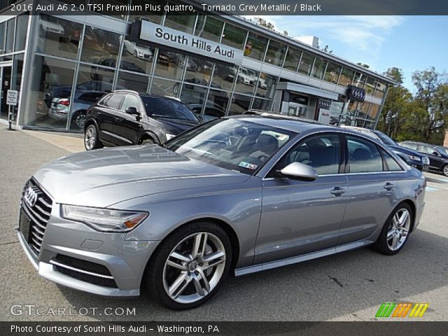 tornado grey metallic 2016 audi a6 2 0 tfsi premium plus quattro black interior gtcarlot. Black Bedroom Furniture Sets. Home Design Ideas