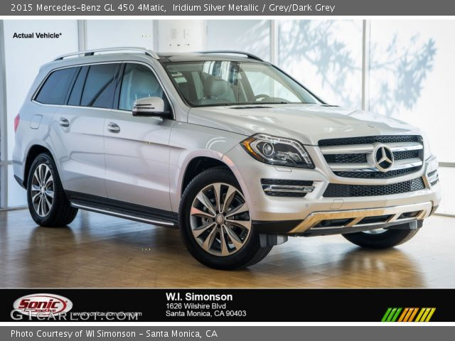 2015 Mercedes-Benz GL 450 4Matic in Iridium Silver Metallic