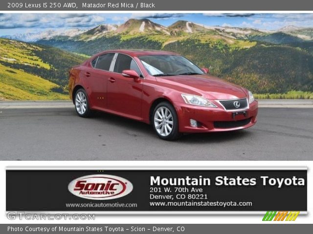 2009 Lexus IS 250 AWD in Matador Red Mica