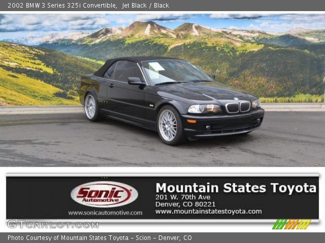 2002 BMW 3 Series 325i Convertible in Jet Black