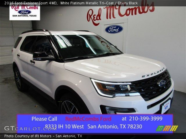 2016 ford explorer sport 4wd in white platinum metallic tri coat - 2016 Ford Explorer Sport White
