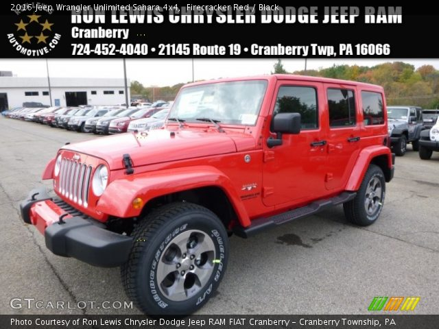 Firecracker red 2016 jeep wrangler unlimited sahara 4x4 Jeep wrangler unlimited red interior