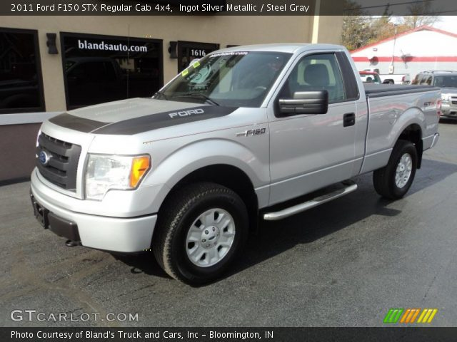 2011 Ford F150 STX Regular Cab 4x4 in Ingot Silver Metallic