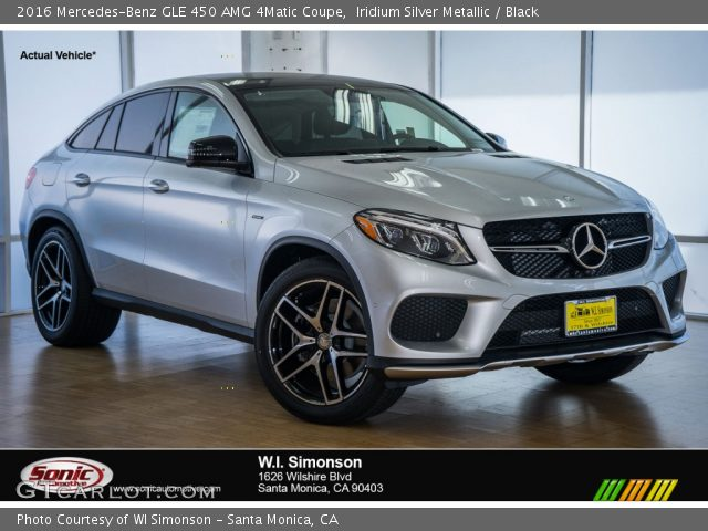 iridium silver metallic 2016 mercedes benz gle 450 amg 4matic coupe black interior. Black Bedroom Furniture Sets. Home Design Ideas