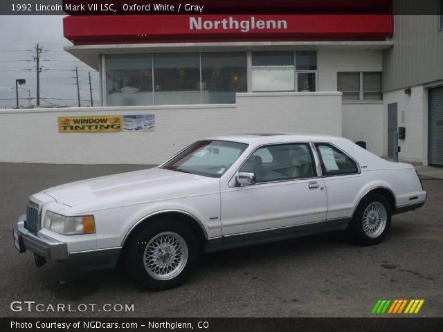 oxford white 1992 lincoln mark vii lsc gray interior vehicle archive 10779192. Black Bedroom Furniture Sets. Home Design Ideas