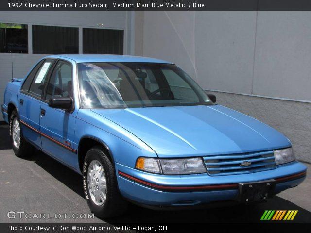 1992 Chevrolet Lumina Euro Sedan in Medium Maui Blue Metallic. Click ...