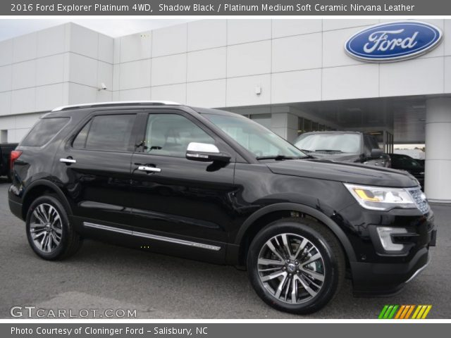 shadow black 2016 ford explorer platinum 4wd platinum medium soft ceramic nirvana leather. Black Bedroom Furniture Sets. Home Design Ideas