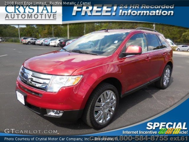2008 Ford Edge Limited in Redfire Metallic