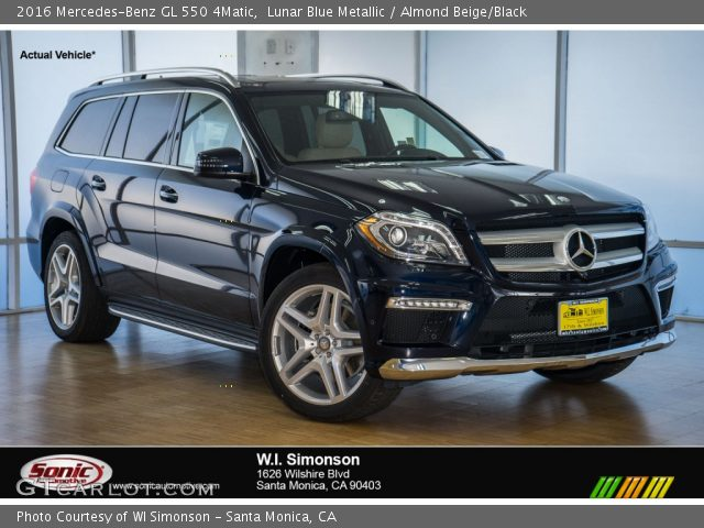2016 Mercedes-Benz GL 550 4Matic in Lunar Blue Metallic