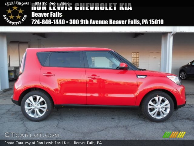 inferno red 2016 kia soul black interior gtcarlot. Black Bedroom Furniture Sets. Home Design Ideas