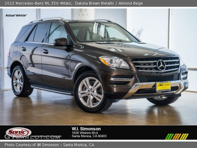 2013 Mercedes-Benz ML 350 4Matic in Dakota Brown Metallic