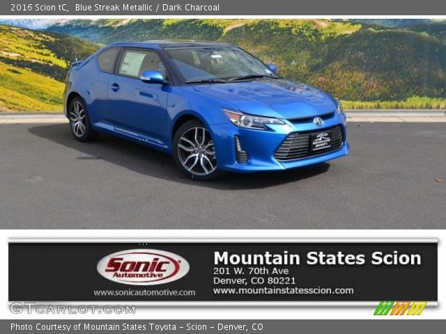 2016 Scion tC  in Blue Streak Metallic