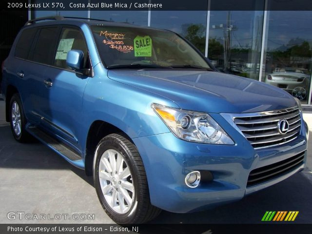 costa azul blue mica 2009 lexus lx 570 cashmere. Black Bedroom Furniture Sets. Home Design Ideas
