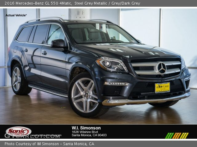 2016 Mercedes-Benz GL 550 4Matic in Steel Grey Metallic