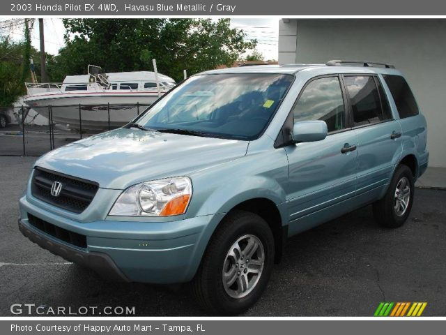 havasu blue metallic 2003 honda pilot ex 4wd gray. Black Bedroom Furniture Sets. Home Design Ideas