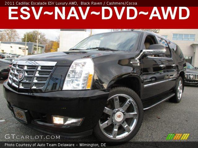 2011 Cadillac Escalade ESV Luxury AWD in Black Raven