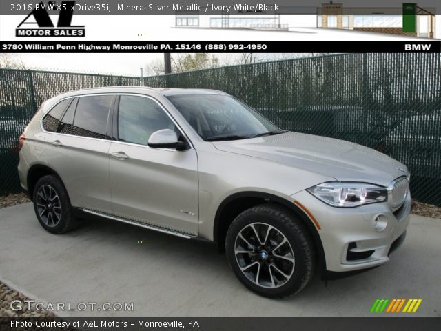 mineral silver metallic 2016 bmw x5 xdrive35i ivory white black interior. Black Bedroom Furniture Sets. Home Design Ideas