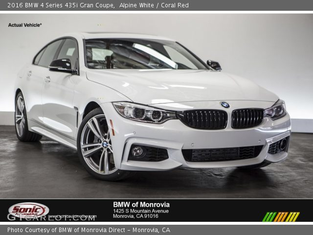 alpine white 2016 bmw 4 series 435i gran coupe coral red interior vehicle. Black Bedroom Furniture Sets. Home Design Ideas