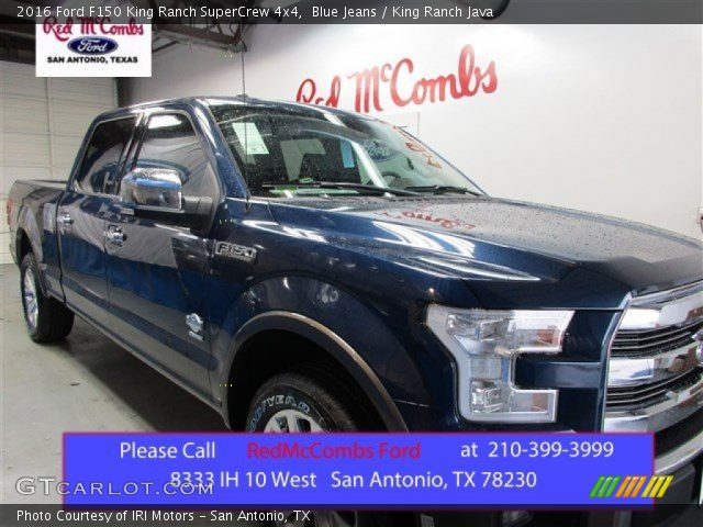 2016 Ford F150 King Ranch SuperCrew 4x4 in Blue Jeans