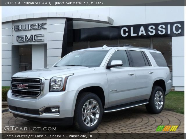 quicksilver metallic 2016 gmc yukon slt 4wd jet black. Black Bedroom Furniture Sets. Home Design Ideas