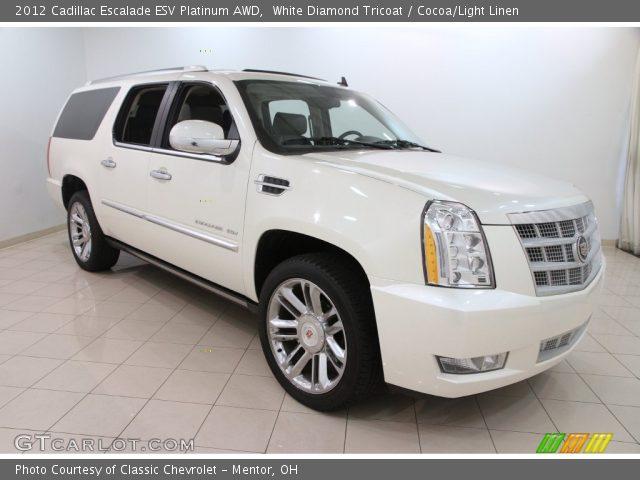 2012 Cadillac Escalade ESV Platinum AWD in White Diamond Tricoat