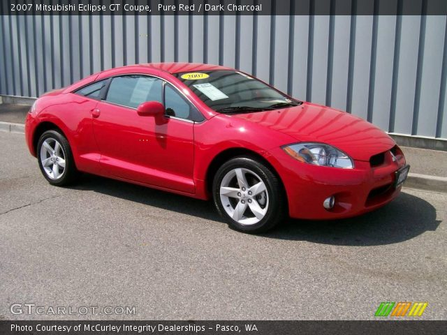 pure red 2007 mitsubishi eclipse gt coupe dark. Black Bedroom Furniture Sets. Home Design Ideas