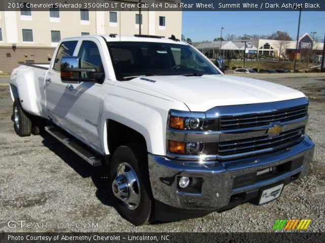 summit white 2016 chevrolet silverado 3500hd lt crew cab 4x4 dual rear wheel dark ash jet. Black Bedroom Furniture Sets. Home Design Ideas