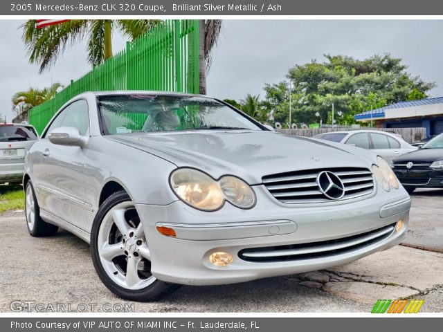 2005 Mercedes-Benz CLK 320 Coupe in Brilliant Silver Metallic