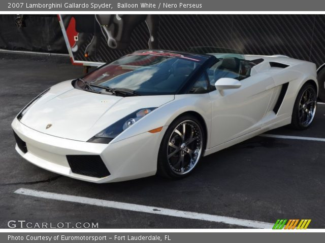 2007 Lamborghini Gallardo Spyder in Balloon White
