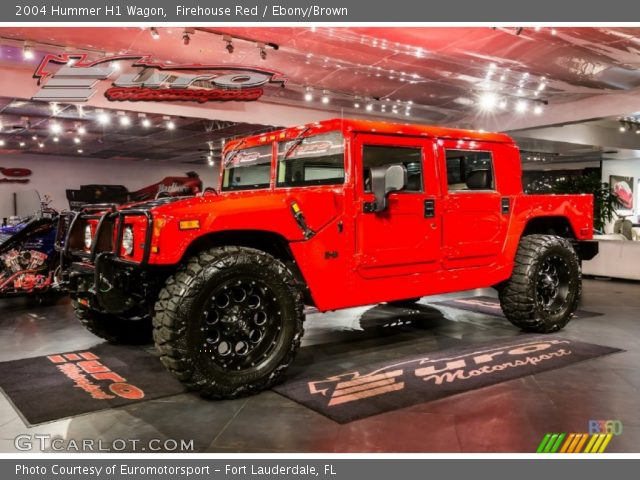 2004 Hummer H1 Wagon in Firehouse Red