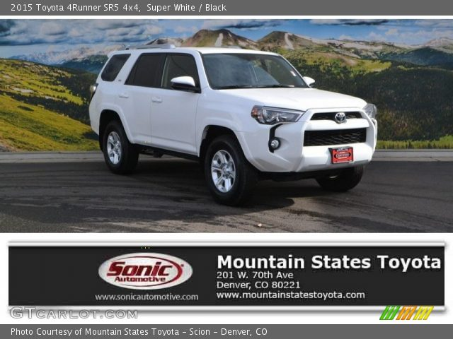 super white 2015 toyota 4runner sr5 4x4 black interior vehicle archive. Black Bedroom Furniture Sets. Home Design Ideas