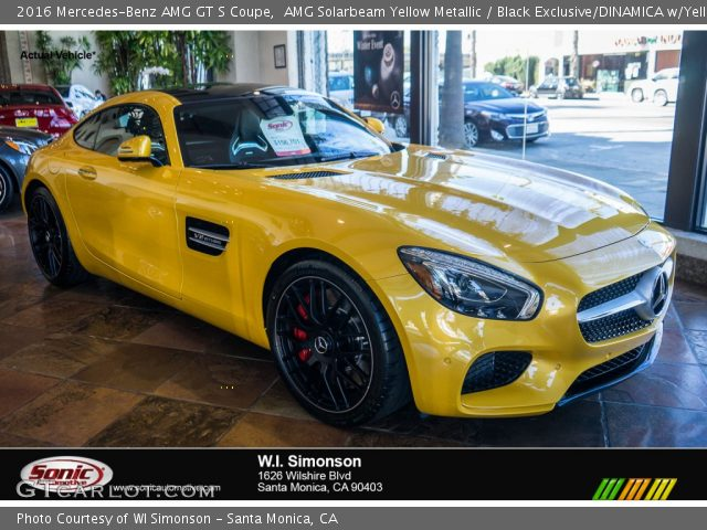 2016 Mercedes-Benz AMG GT S Coupe in AMG Solarbeam Yellow Metallic