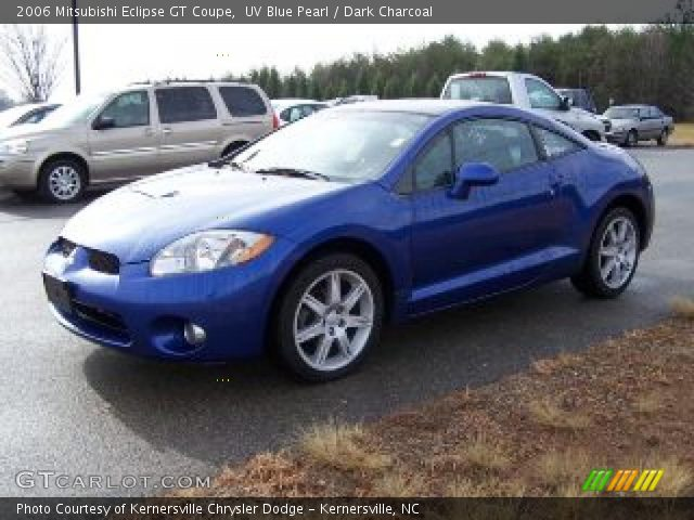 uv blue pearl 2006 mitsubishi eclipse gt coupe dark charcoal interior. Black Bedroom Furniture Sets. Home Design Ideas