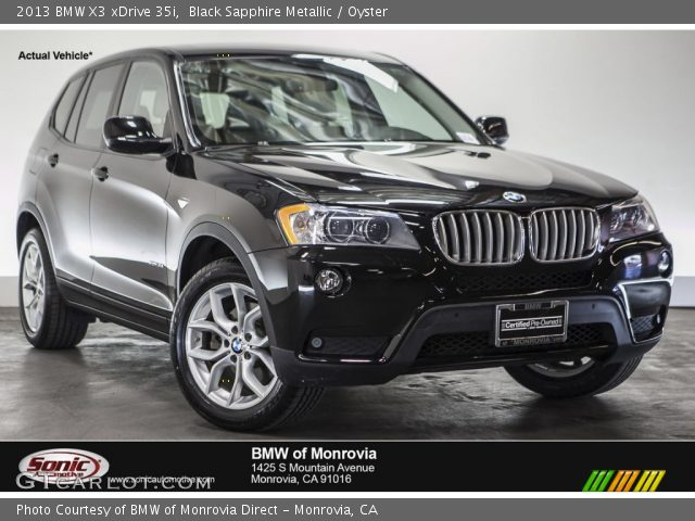 black sapphire metallic 2013 bmw x3 xdrive 35i oyster. Black Bedroom Furniture Sets. Home Design Ideas