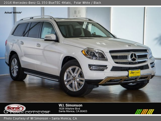 polar white 2016 mercedes benz gl 350 bluetec 4matic. Black Bedroom Furniture Sets. Home Design Ideas