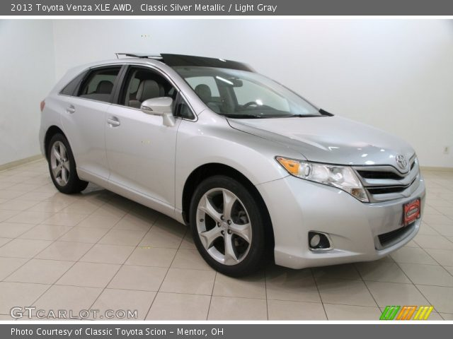 classic silver metallic 2013 toyota venza xle awd. Black Bedroom Furniture Sets. Home Design Ideas