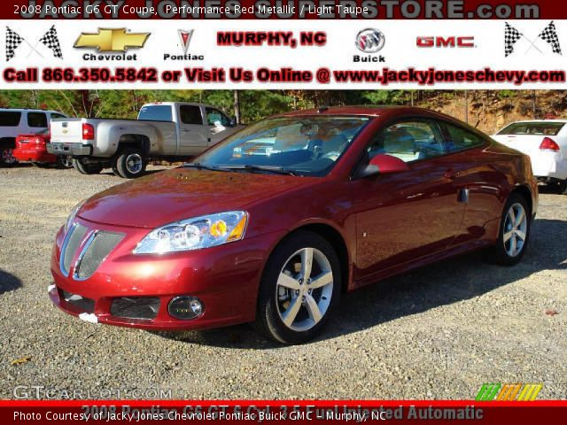 2008 Pontiac G6 GT Coupe in Performance Red Metallic