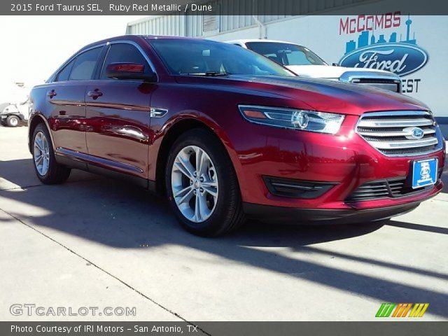 ruby red metallic 2015 ford taurus sel dune interior vehicle archive 109665366. Black Bedroom Furniture Sets. Home Design Ideas