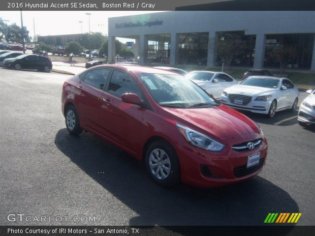 2016 Hyundai Accent SE Sedan in Boston Red